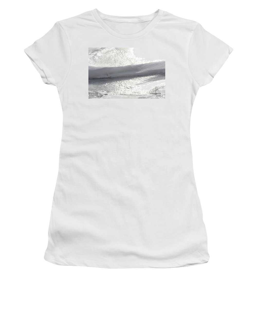 Natural World Women's T-Shirt featuring the photograph Glistening Levels by Urbanmoon Photography