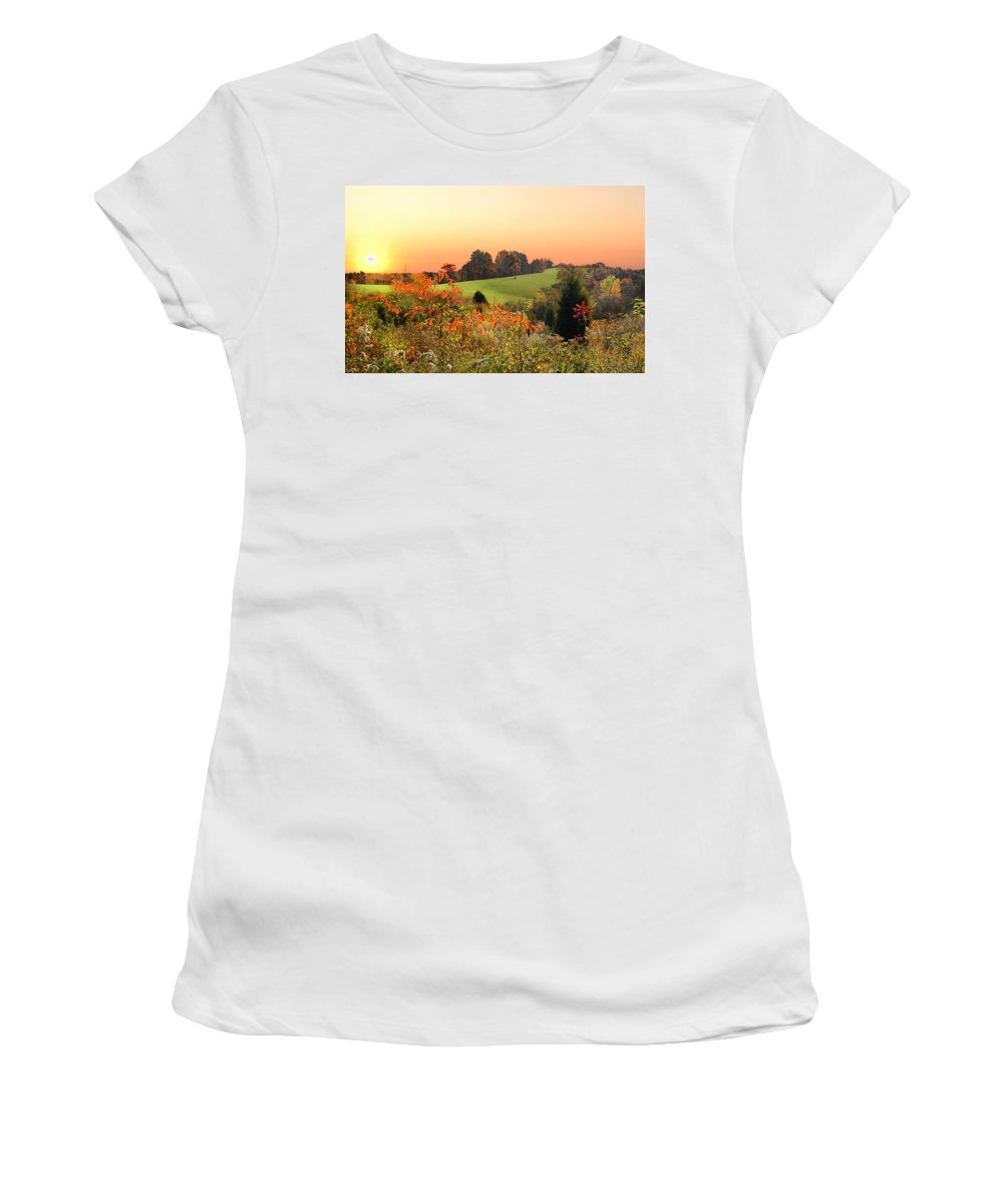Wild Flowers Women's T-Shirt (Athletic Fit) featuring the photograph God's Glory by Randall Branham