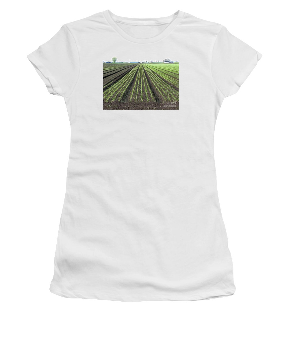 Farm Women's T-Shirt (Athletic Fit) featuring the photograph Good Earth by Ann Horn