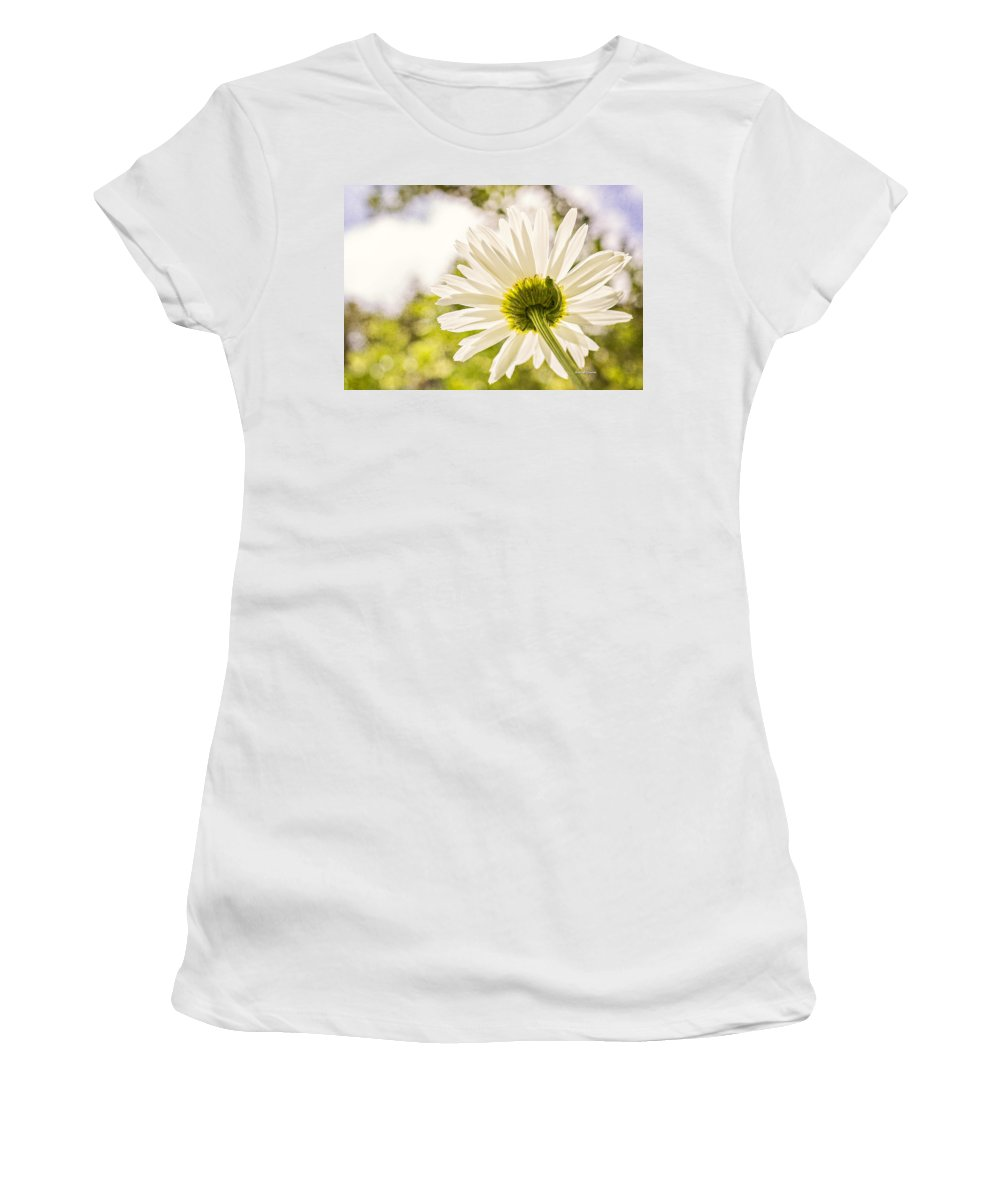 Daisy Women's T-Shirt (Athletic Fit) featuring the photograph Good Morning Sunshine by Angela Stanton