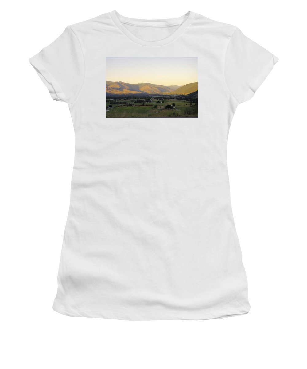 Grand Forks Women's T-Shirt featuring the photograph Grand Forks View From The West by John Greaves