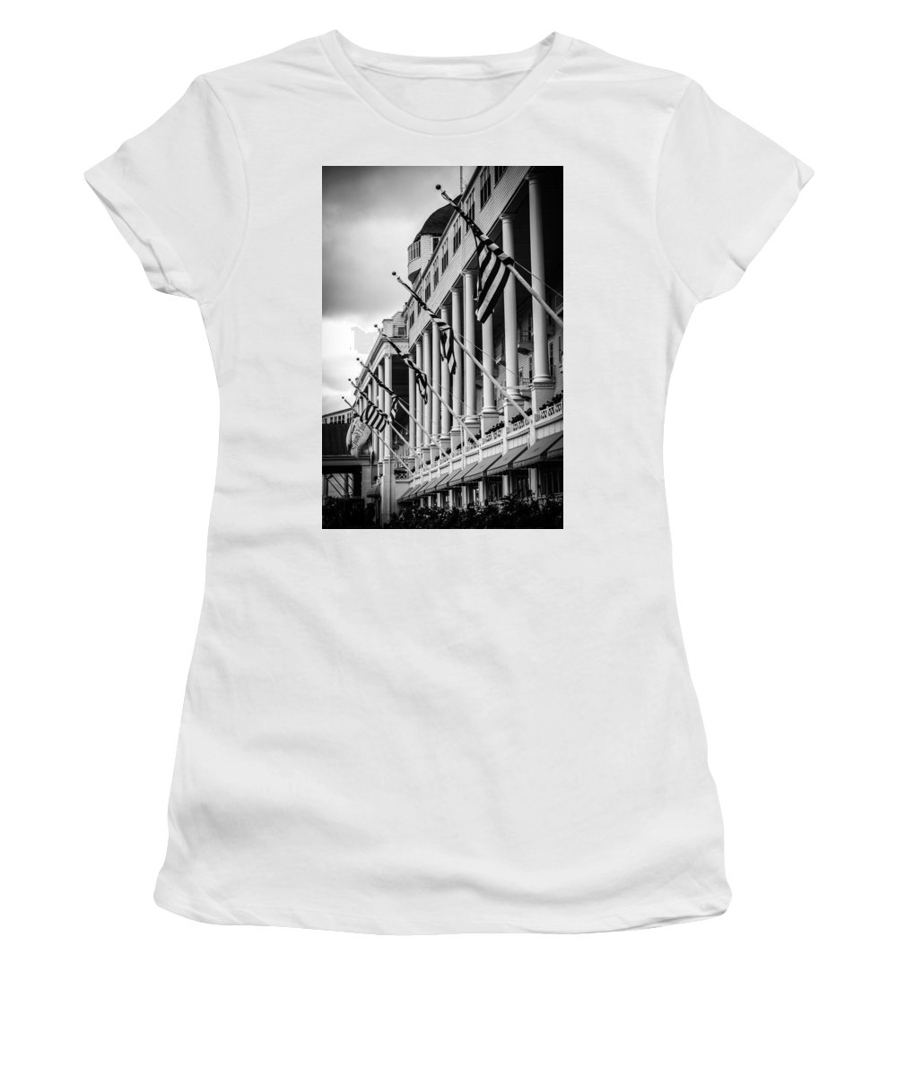 Grand Hotel Women's T-Shirt (Athletic Fit) featuring the photograph Grand Hotel by Sheri Bartoszek