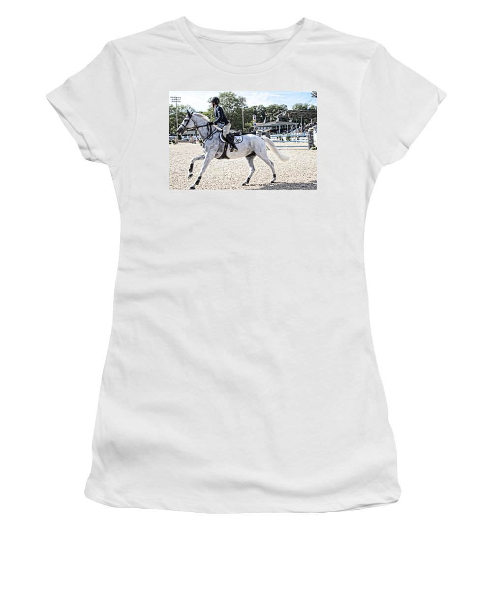 Horse Women's T-Shirt featuring the photograph Gray At Devon by Alice Gipson