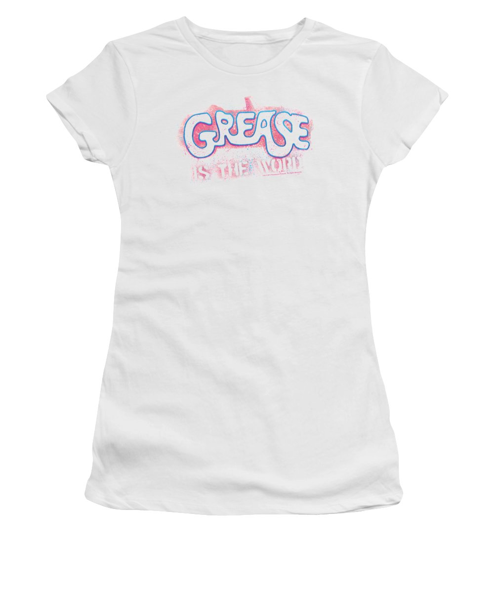 Grease Women's T-Shirt featuring the digital art Grease - Grease Is The Word by Brand A