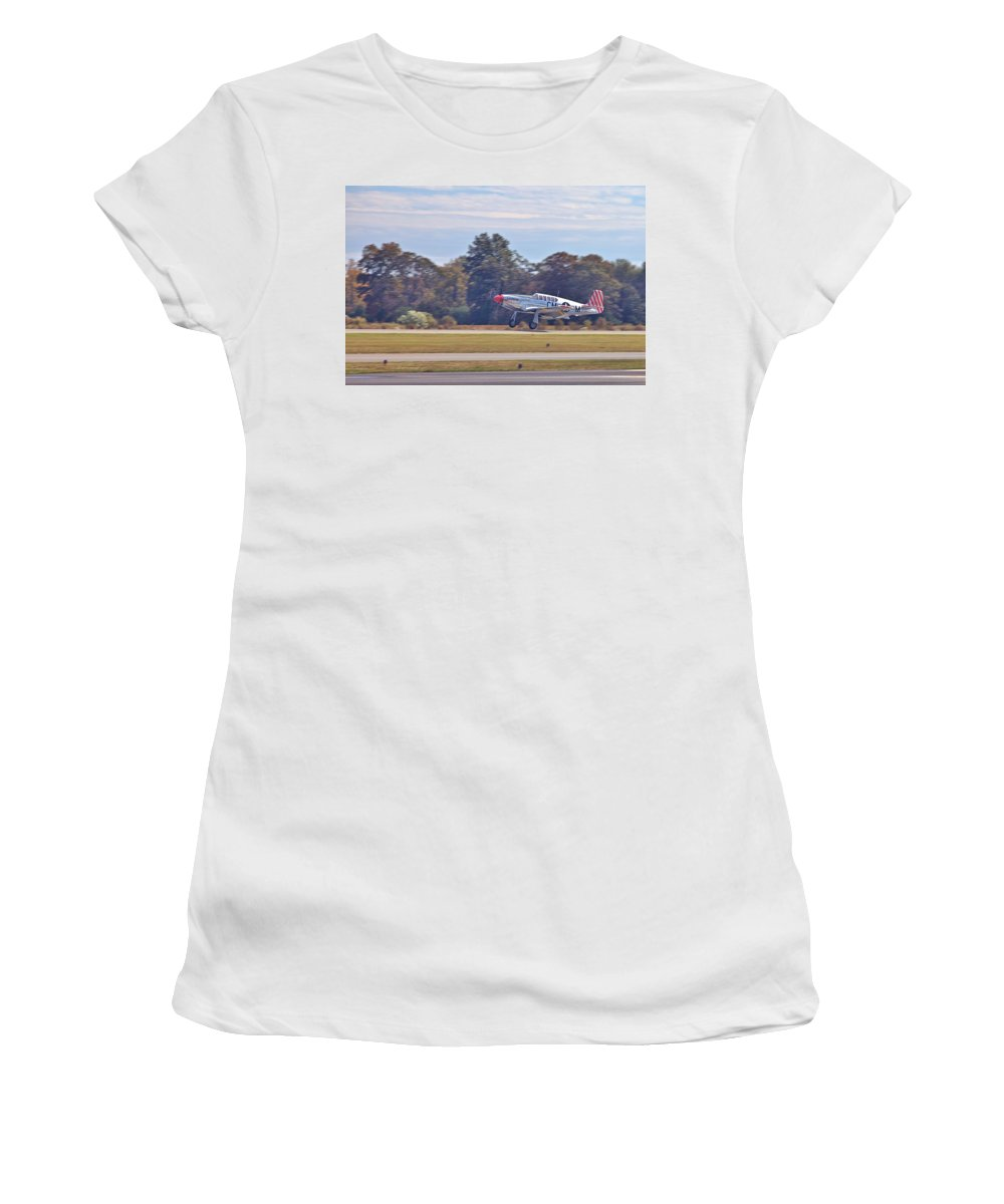 9198 Women's T-Shirt (Athletic Fit) featuring the photograph Greaser by Gordon Elwell