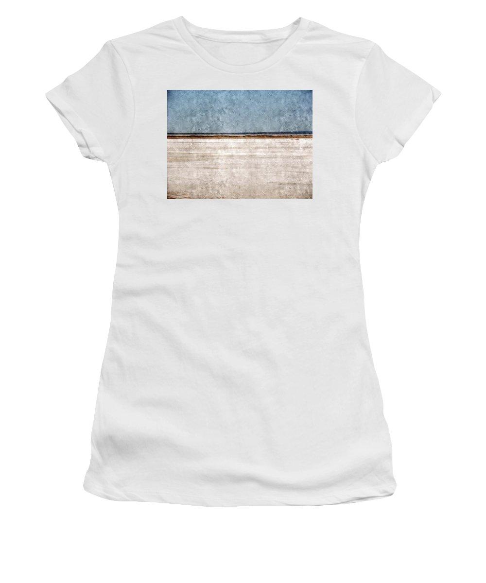 Great Salt Plains Women's T-Shirt featuring the photograph Great Salt Plains by Annie Adkins
