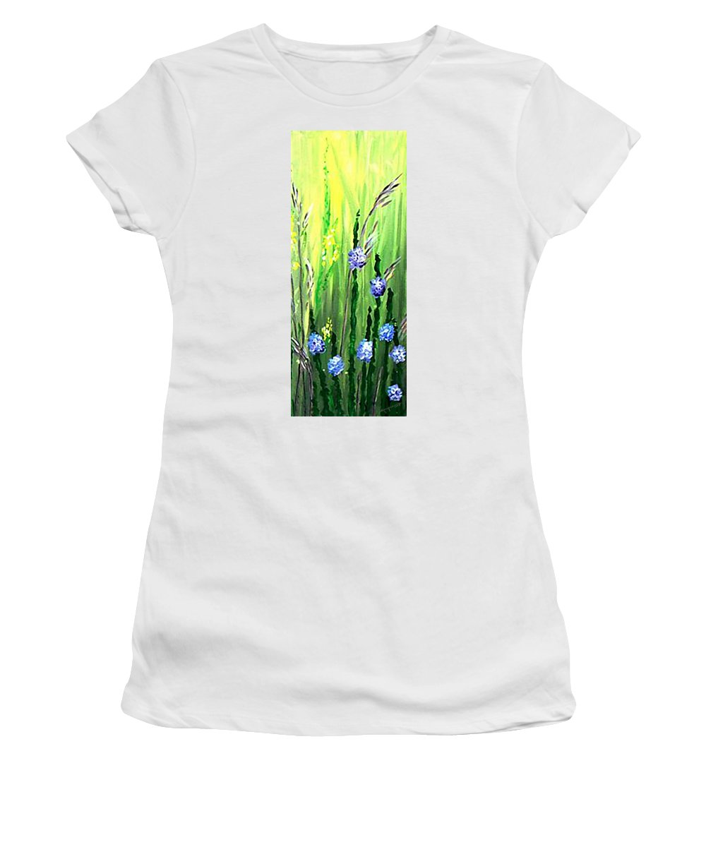 Growing Wild Women's T-Shirt (Athletic Fit) featuring the painting Growing Wild 2 by Kume Bryant