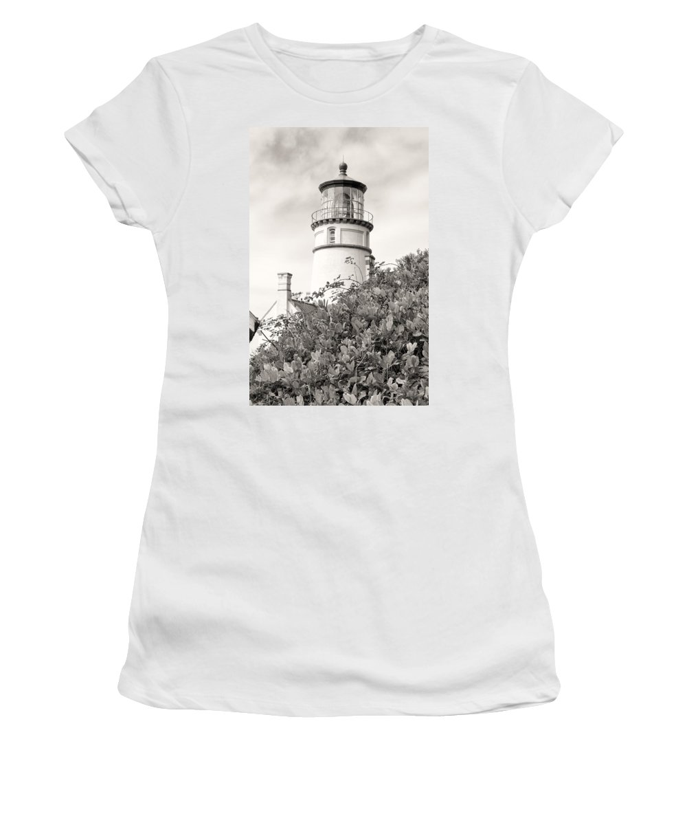 Women's T-Shirt featuring the photograph Haceta Head Lighthouse 2 by Cathy Anderson