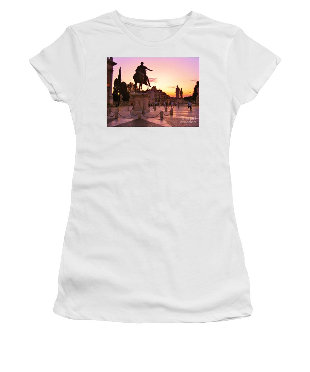 Hail To All The Little Tourists Women's T-Shirt featuring the photograph Hail To All The Little Tourists by John Malone