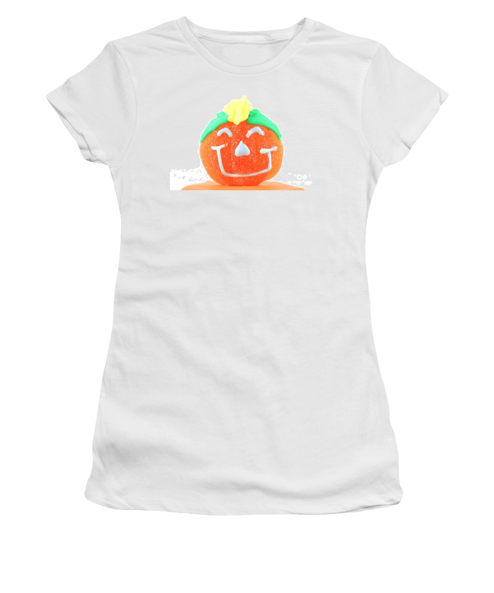Cup Women's T-Shirt (Athletic Fit) featuring the photograph Halloween Pimpkin Sweet by Simon Bratt Photography LRPS