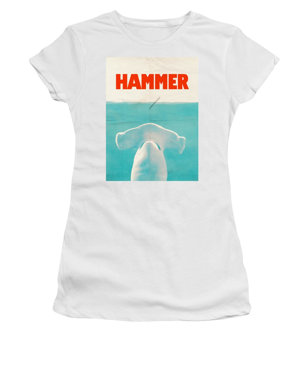 Jaws Women's T-Shirt featuring the drawing Hammer by Eric Fan