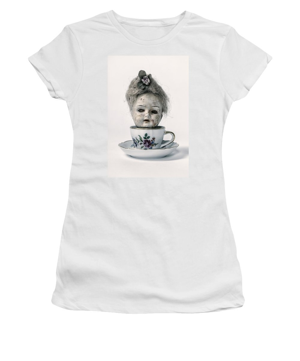 Doll Women's T-Shirt featuring the photograph Head In Cup by Joana Kruse