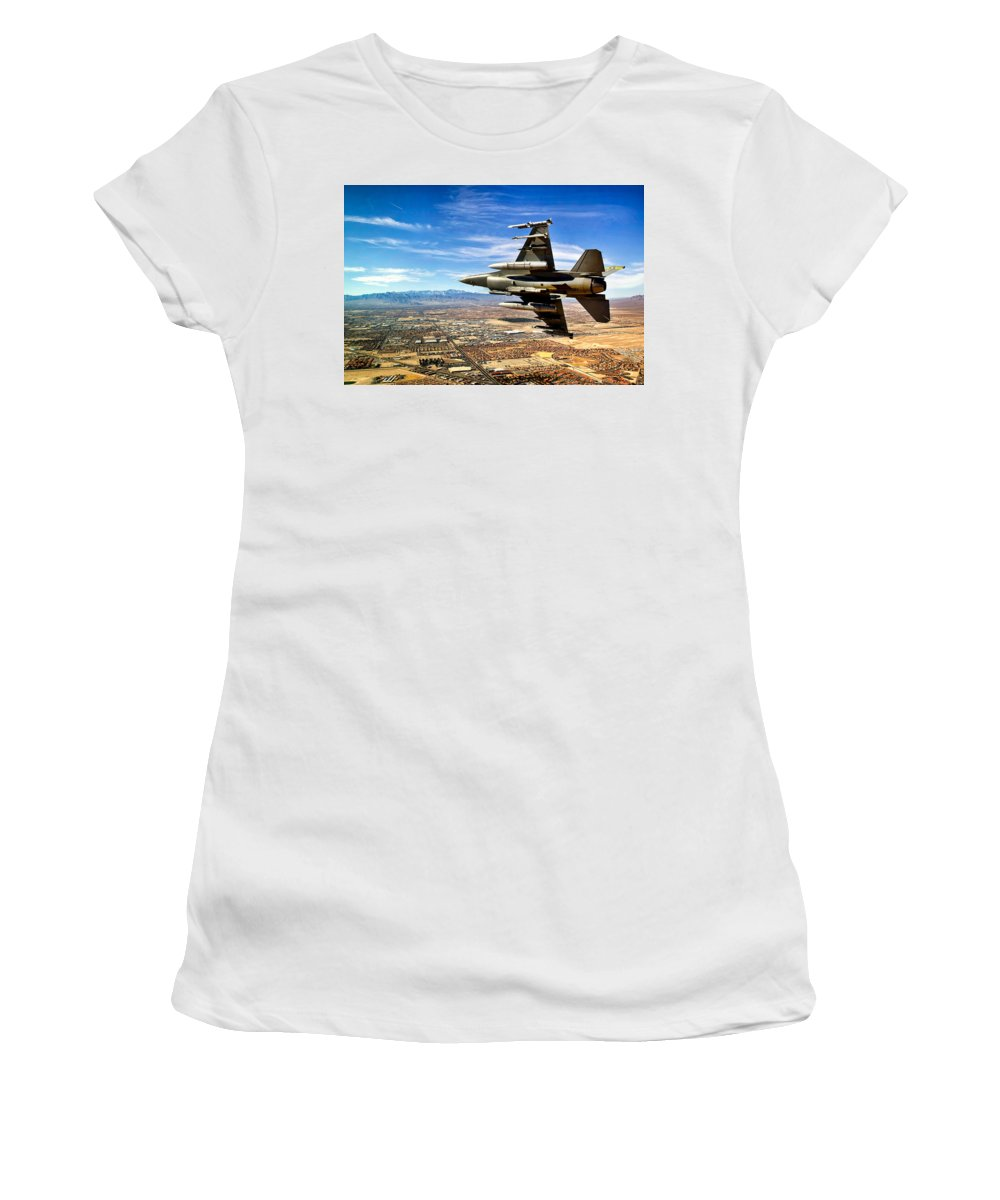Sky Women's T-Shirt (Athletic Fit) featuring the photograph Heading Home by Mountain Dreams