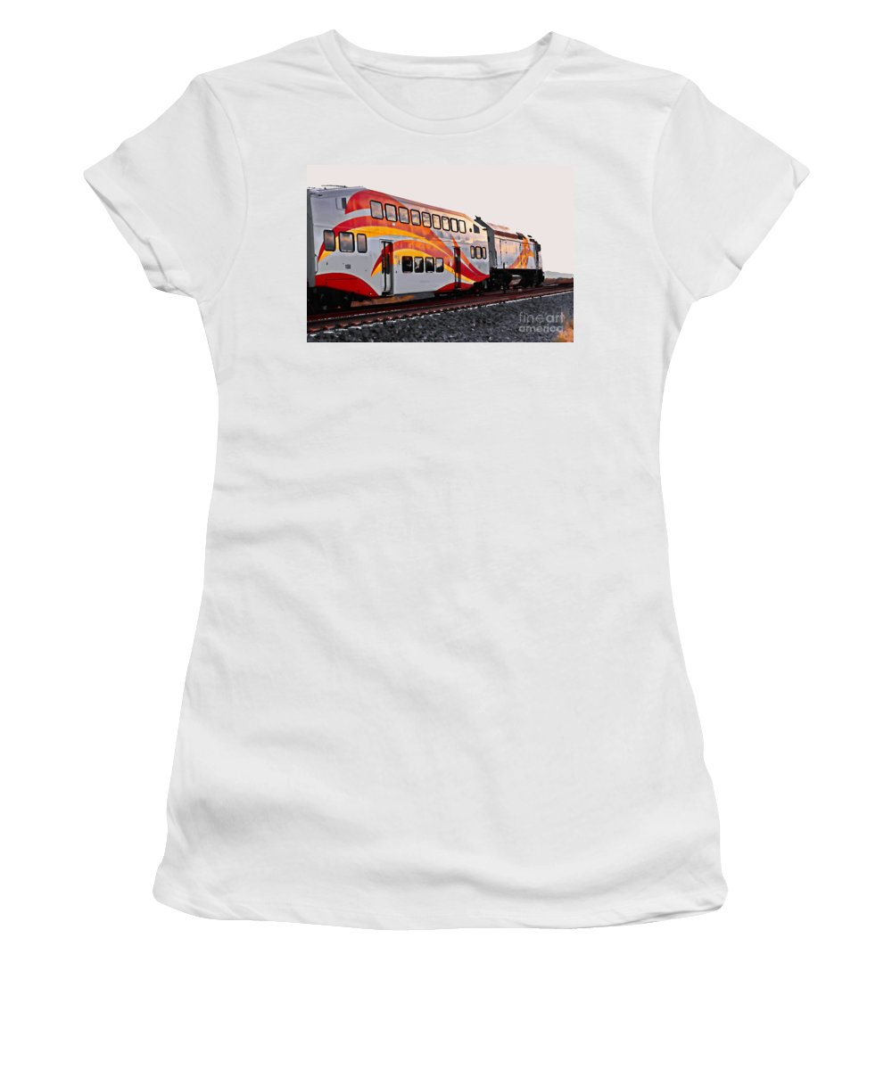 Digital Enhanced Photo Women's T-Shirt (Athletic Fit) featuring the digital art Heading South by Tim Richards