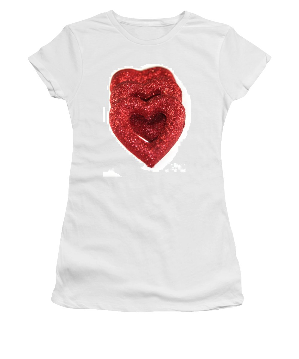 Heart Women's T-Shirt featuring the photograph Hearts by Henrik Lehnerer