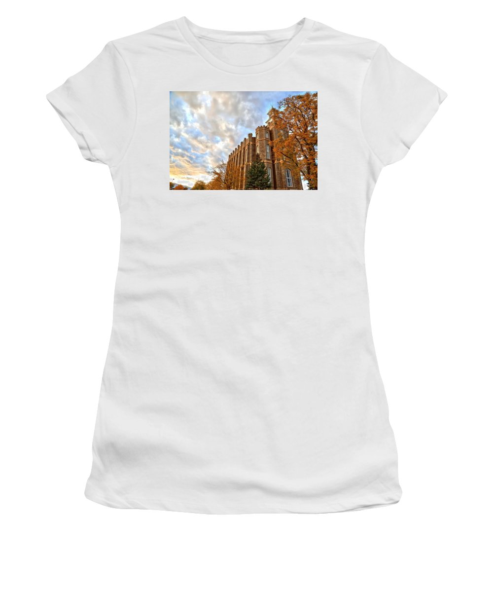 Church Building Women's T-Shirt (Athletic Fit) featuring the photograph Heavenward by David Andersen