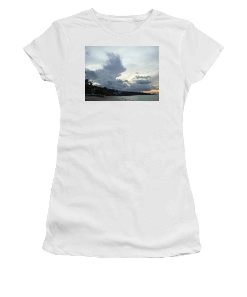 Women's T-Shirt (Athletic Fit) featuring the photograph Hedgehog Cloud by Katerina Naumenko