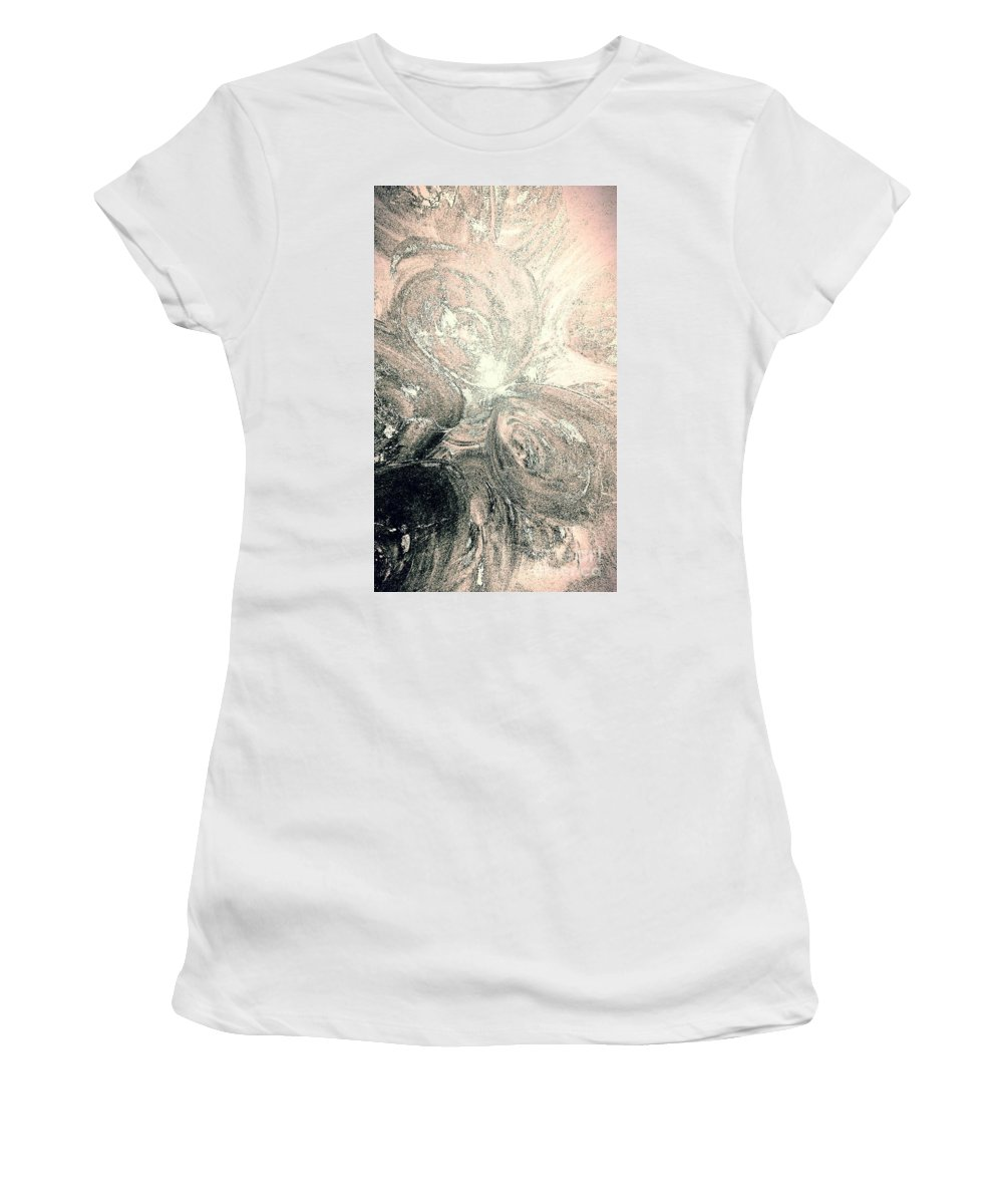 Glow Women's T-Shirt (Athletic Fit) featuring the painting Her Inner Glow by Jacqueline McReynolds
