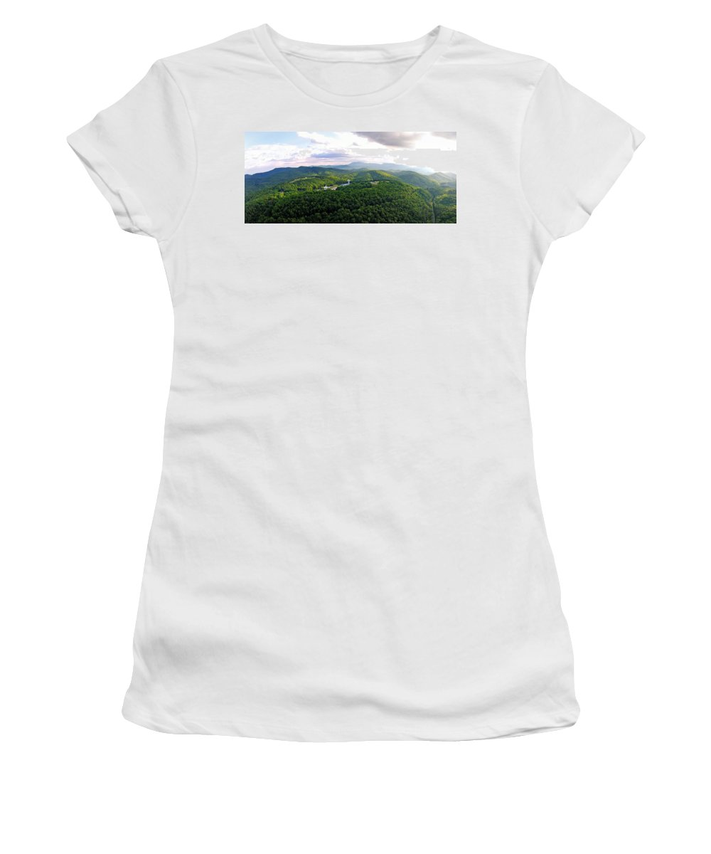 High Country Women's T-Shirt (Athletic Fit) featuring the photograph High Country 1 In Wnc by Duane McCullough
