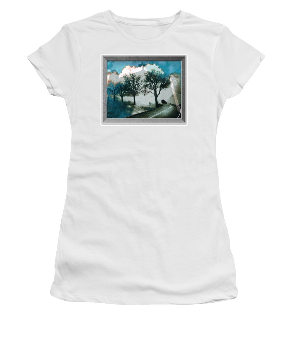 Highway To Heaven Women's T-Shirt (Athletic Fit) featuring the photograph Highway To Heaven by Femina Photo Art By Maggie