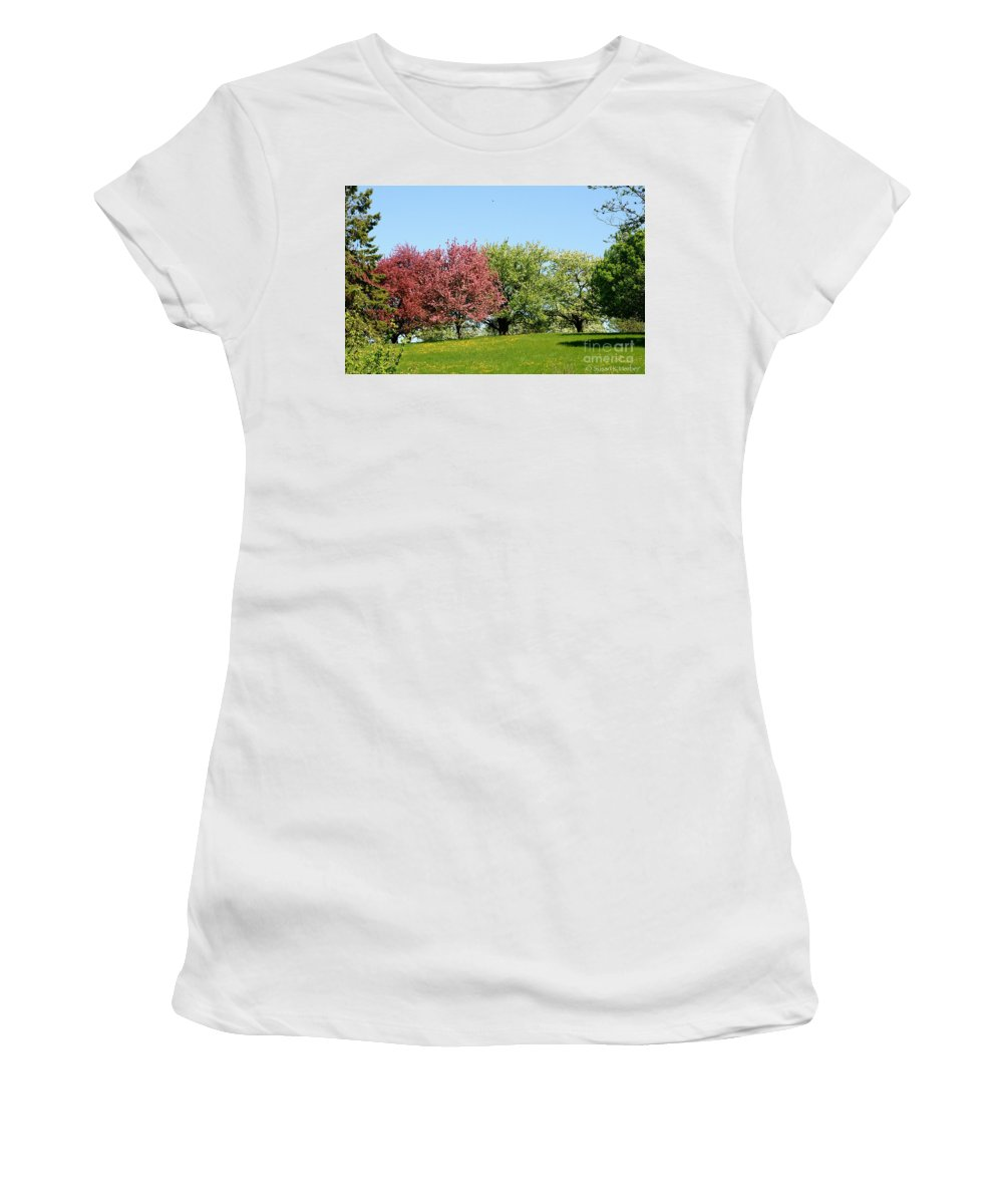 Flower Women's T-Shirt (Athletic Fit) featuring the photograph Hilltop by Susan Herber