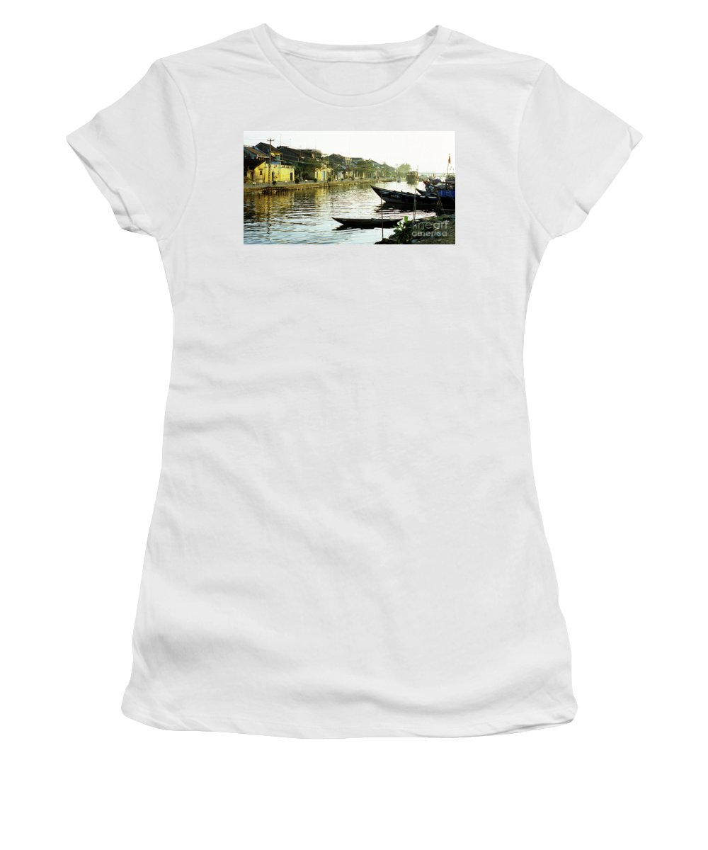 Vietnam Women's T-Shirt (Athletic Fit) featuring the photograph Hoi An Dawn 01 by Rick Piper Photography