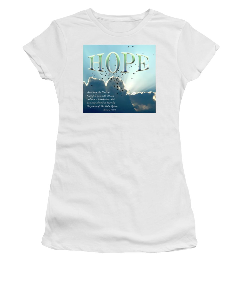 Hope Women's T-Shirt (Athletic Fit) featuring the photograph Hope by Carolyn Marshall