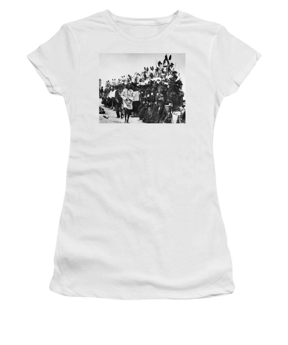 1913 Women's T-Shirt featuring the photograph Hopi Dancers by Granger