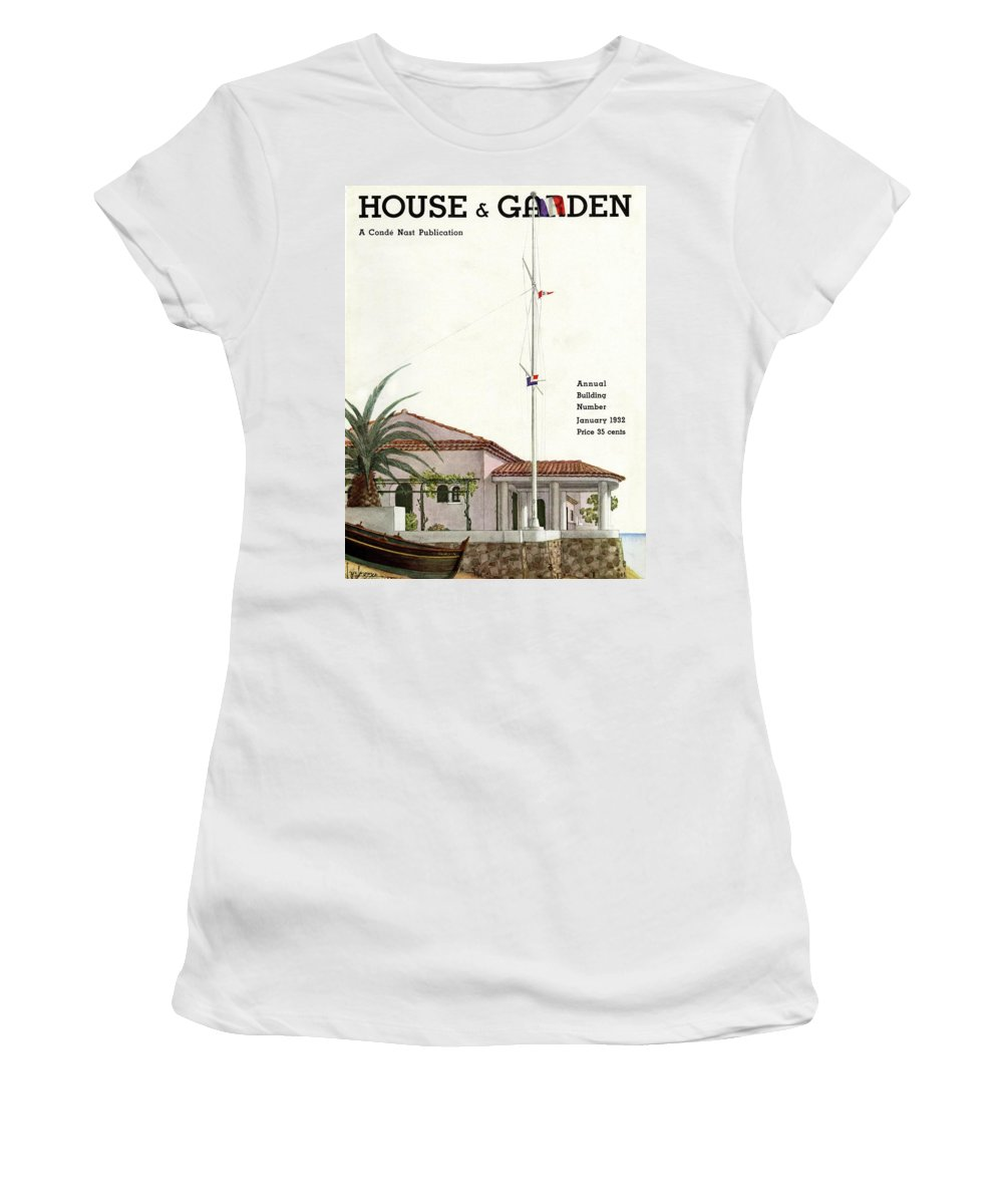 House And Garden Women's T-Shirt featuring the photograph House And Garden Annual Building Number Cover by Georges Lepape
