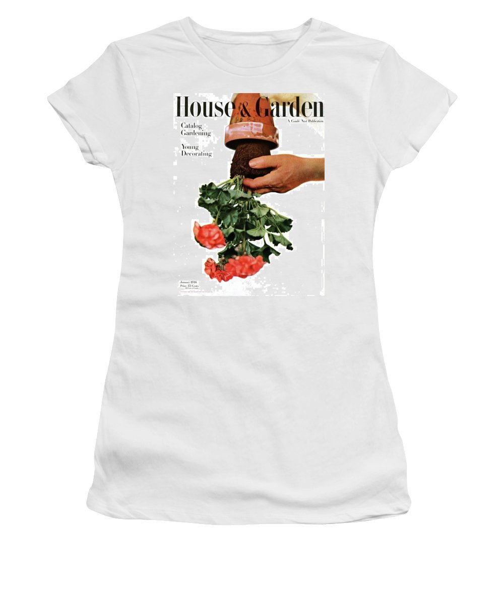 House And Garden Women's T-Shirt featuring the photograph House And Garden Cover Featuring A Person by Haanel Cassidy