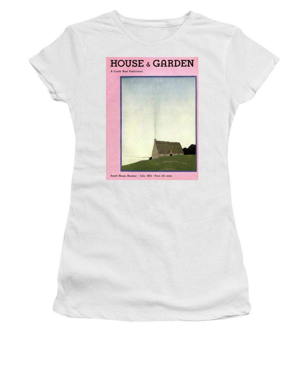 House And Garden Women's T-Shirt featuring the photograph House And Garden Small House Number Cover by Andre E. Marty
