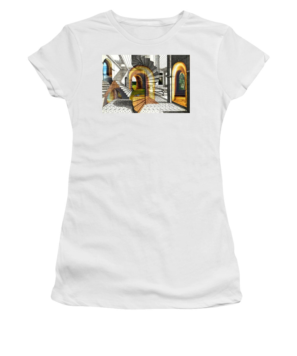 House Women's T-Shirt (Athletic Fit) featuring the digital art House Of Dreams by Lisa Yount