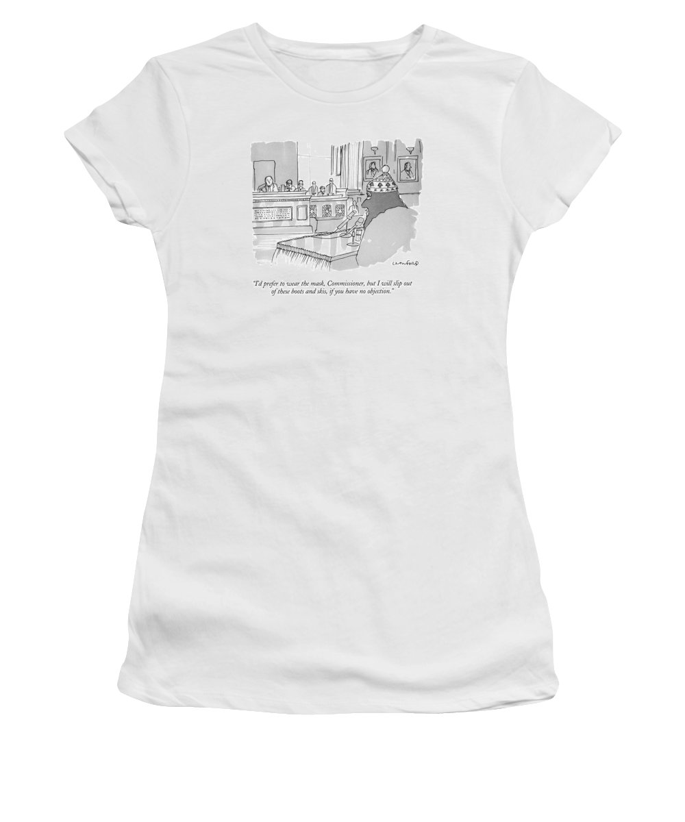 eb0fb4db87c I d Prefer To Wear The Mask Women s T-Shirt for Sale by Michael Crawford