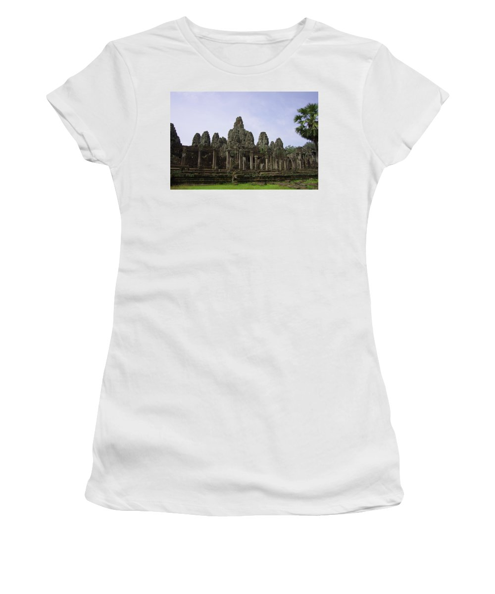 Travel Women's T-Shirt (Athletic Fit) featuring the photograph If Stone Could Speak by Tom Maimran