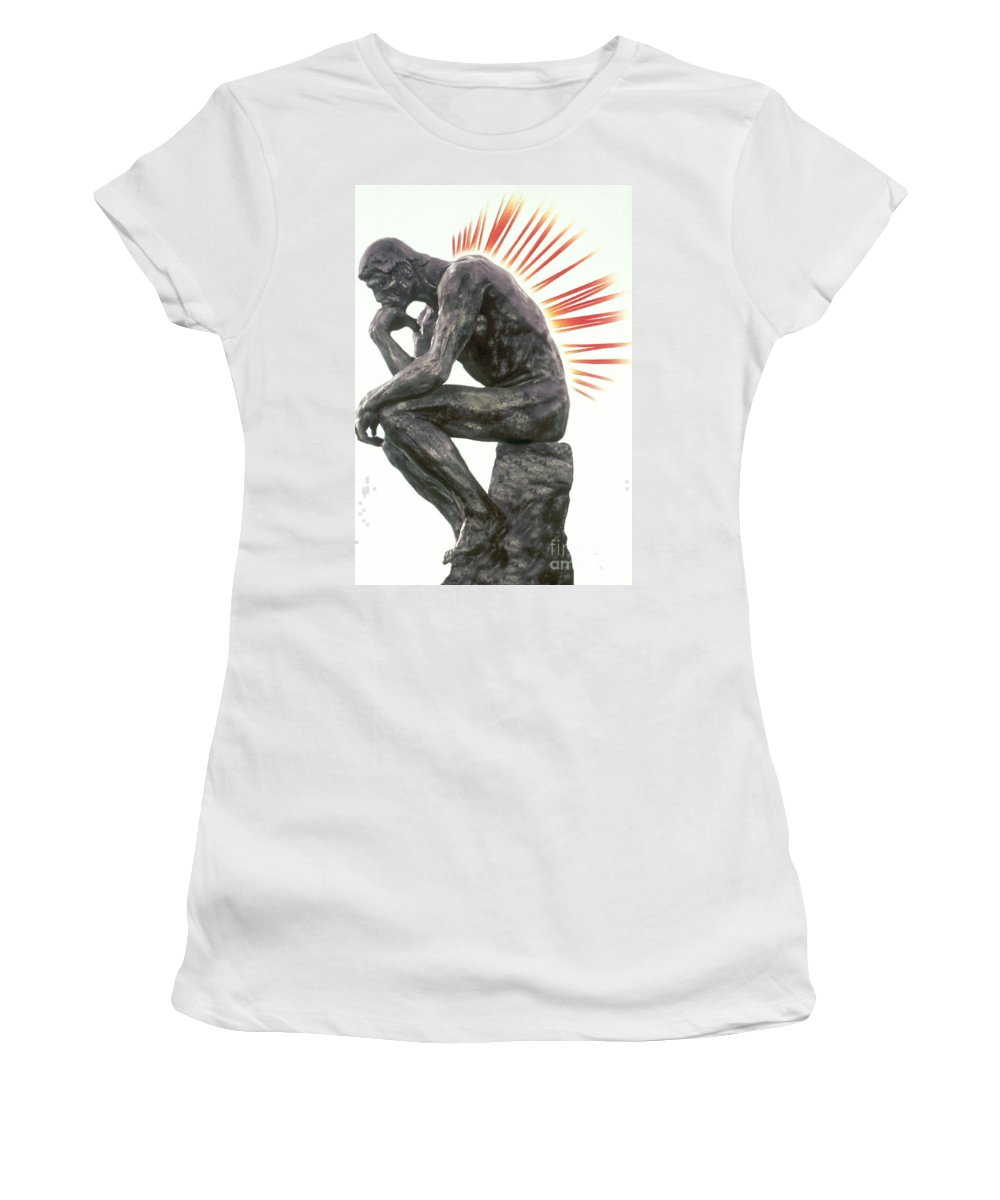 Back Pain Women's T-Shirt (Athletic Fit) featuring the photograph Illustration Of Back Pain by Dennis Potokar