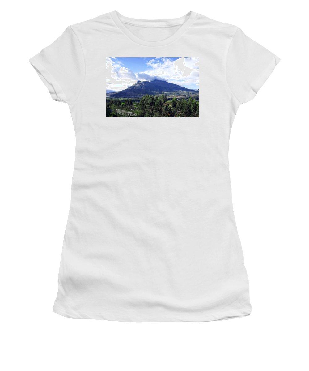 Volcano Women's T-Shirt featuring the photograph Imbabura by Kurt Van Wagner