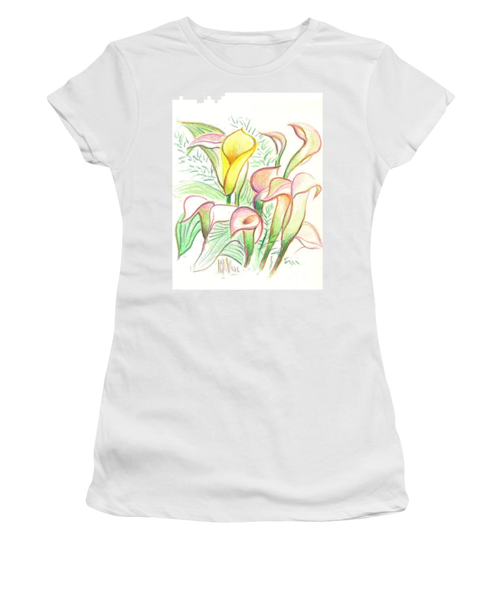 In The Golden Afternoon Women's T-Shirt (Athletic Fit) featuring the painting In The Golden Afternoon by Kip DeVore