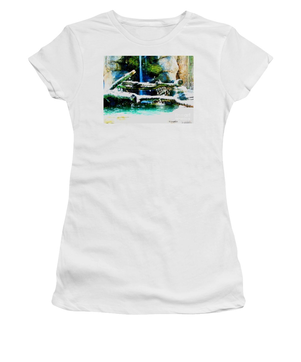 Patzer Women's T-Shirt (Athletic Fit) featuring the photograph Indoor Nature by Greg Patzer