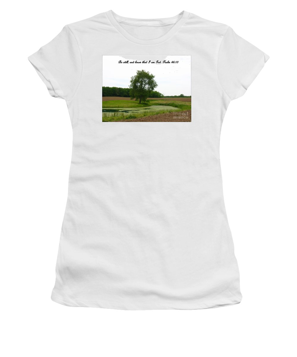 Pond Women's T-Shirt (Athletic Fit) featuring the photograph Inspirations 7 by Sara Raber