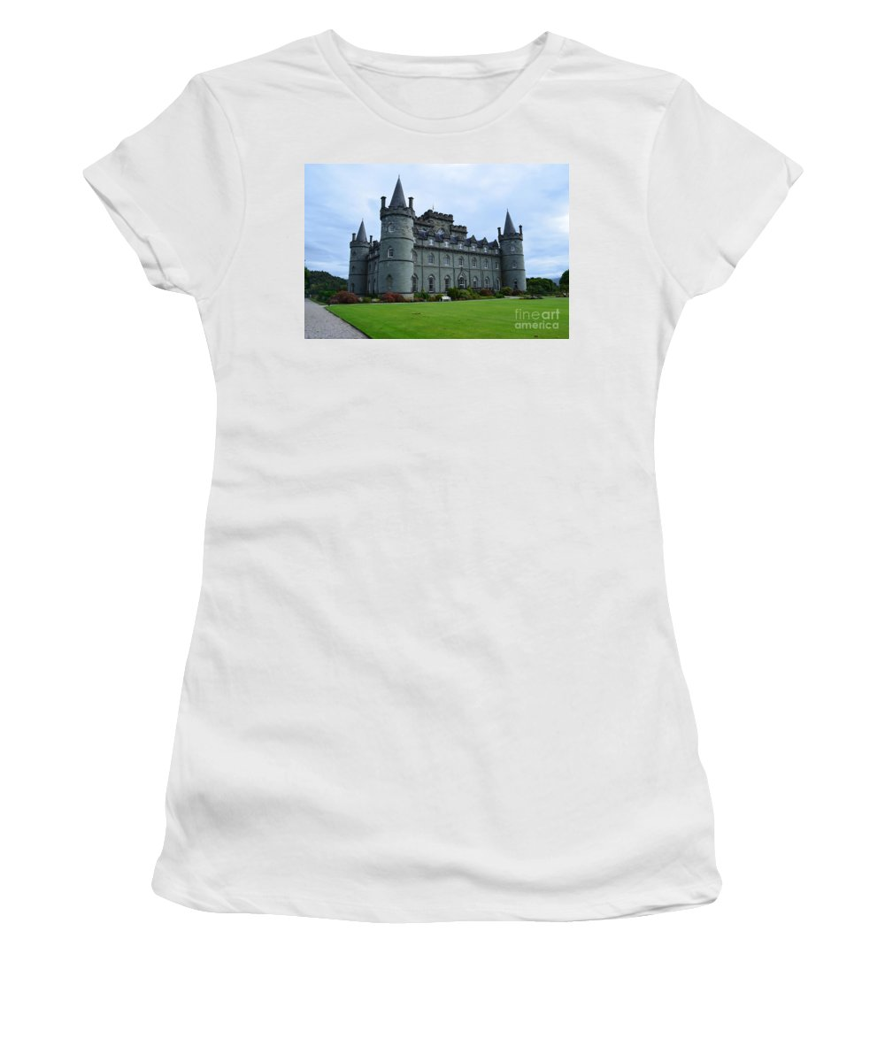 Inveraray Castle Women's T-Shirt (Athletic Fit) featuring the photograph Inveraray Castle In Argyll by DejaVu Designs