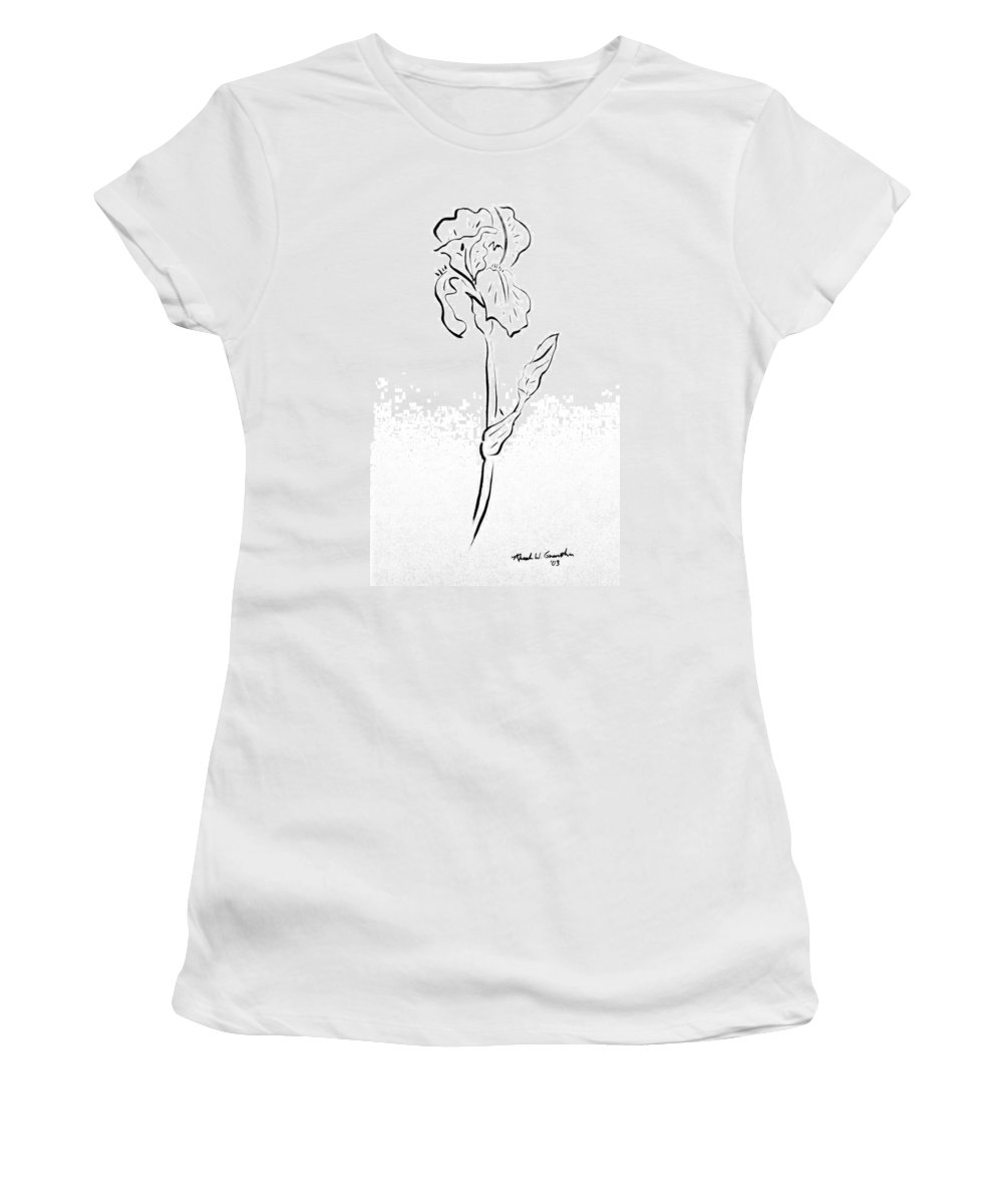 Abstract Women's T-Shirt (Athletic Fit) featuring the drawing Iris II by Micah Guenther