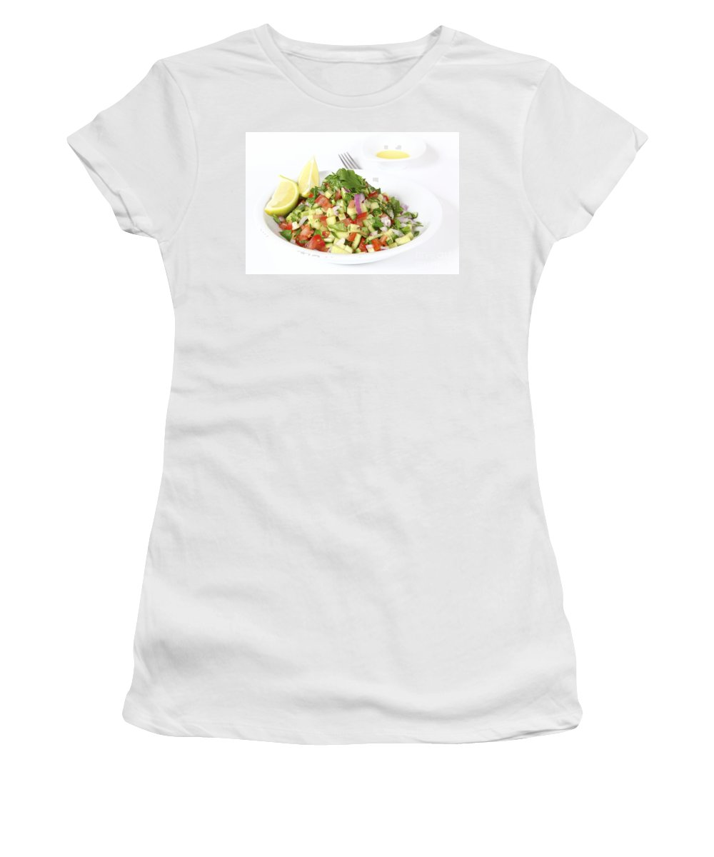 Israeli Women's T-Shirt featuring the photograph Israeli Salad by Oren Shalev