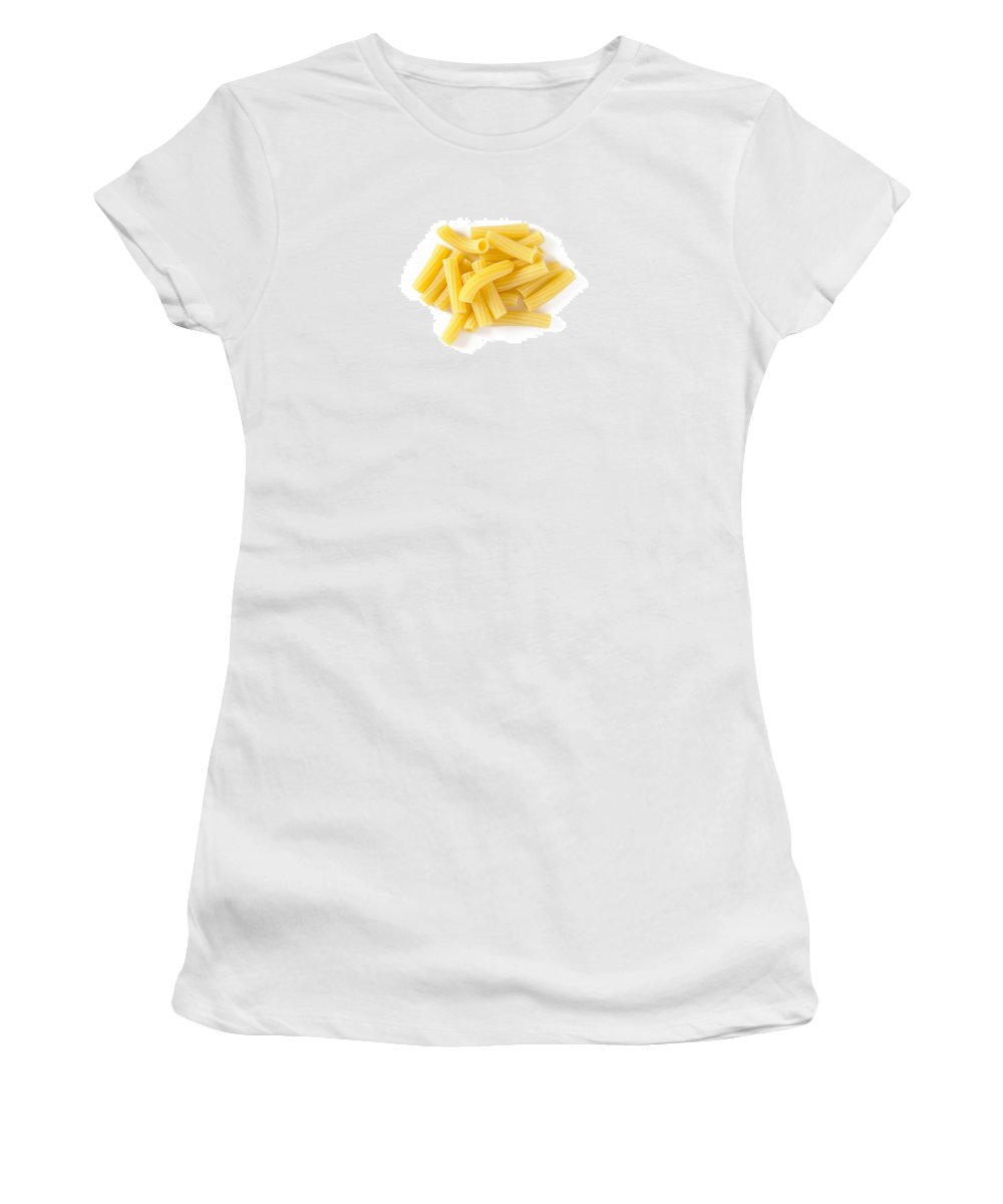 Cooking Women's T-Shirt featuring the photograph Italian Tortiglioni by Alain De Maximy