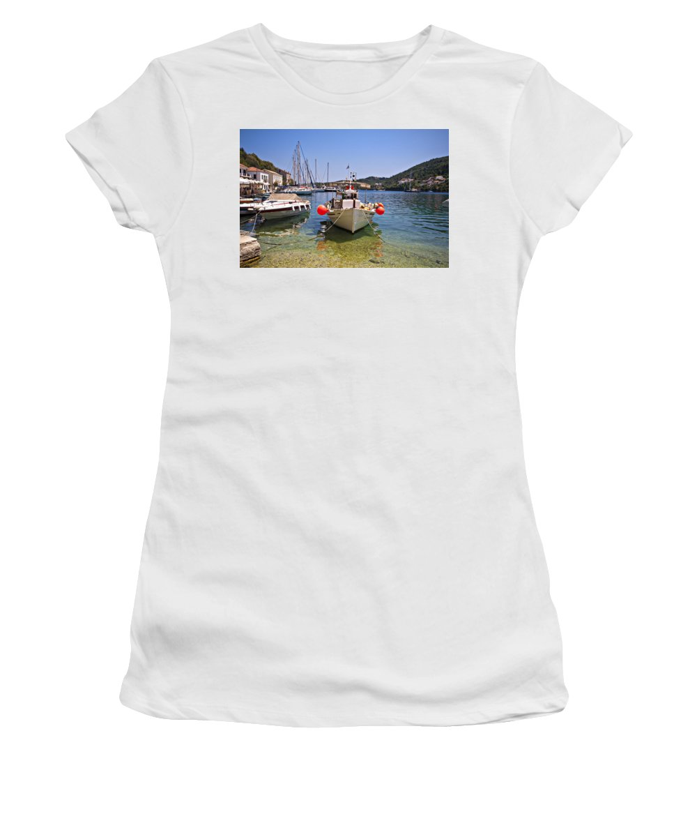 Ithaka Women's T-Shirt (Athletic Fit) featuring the photograph Ithaca by Meirion Matthias