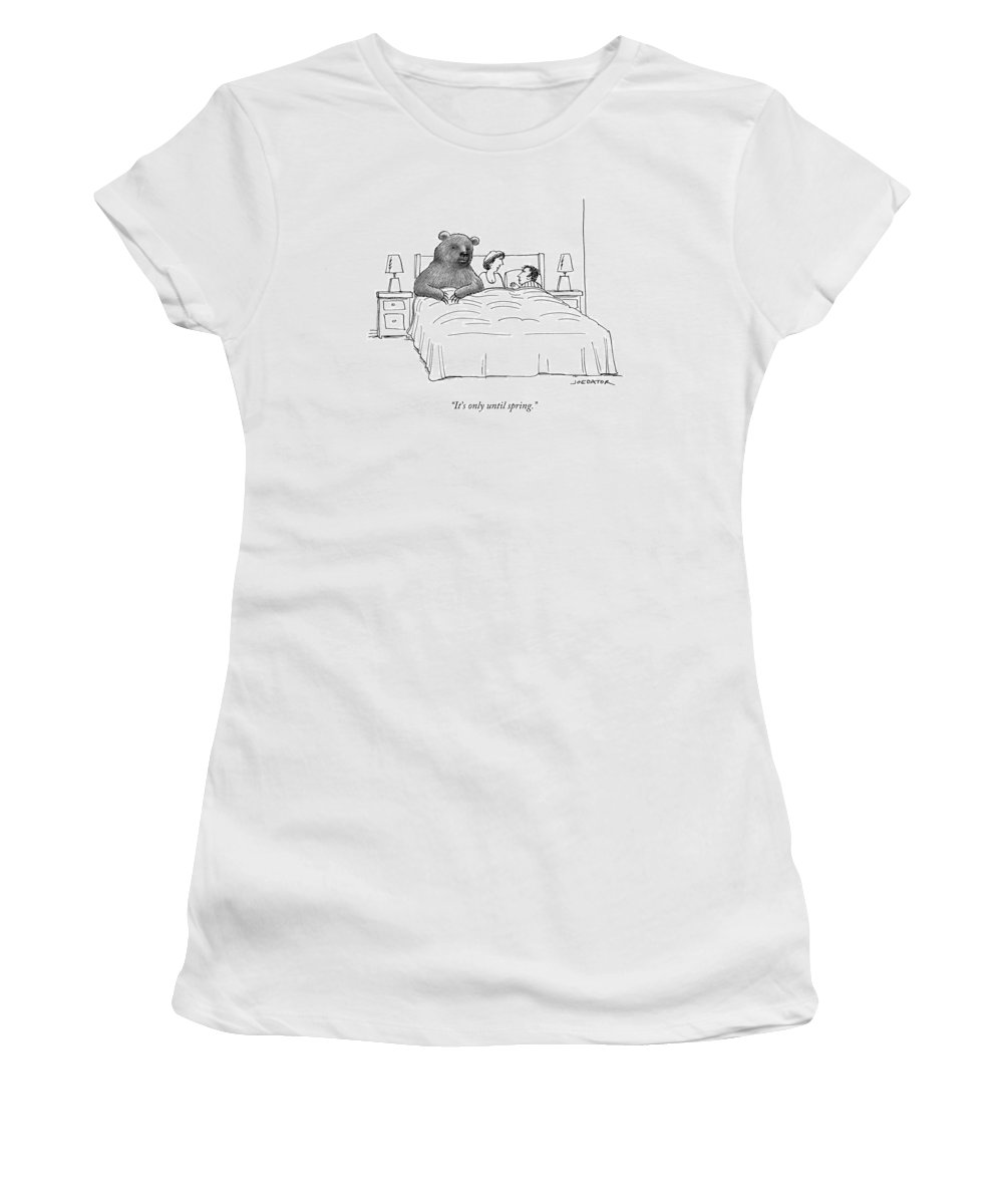 It's Only Until Spring. Women's T-Shirt featuring the drawing Only Until Spring by Joe Dator