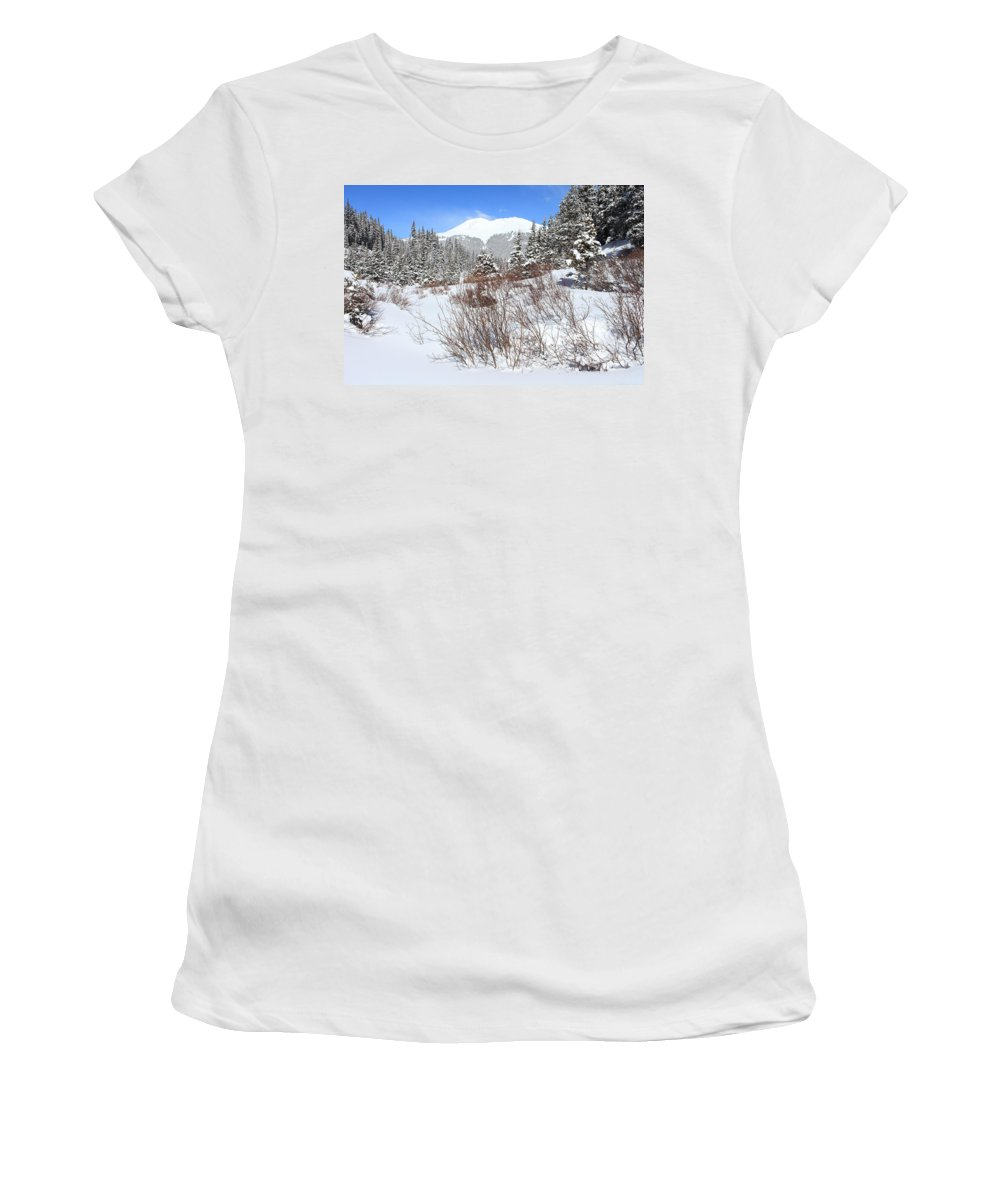 Colorado Women's T-Shirt (Athletic Fit) featuring the photograph Jacque Peak by Eric Glaser
