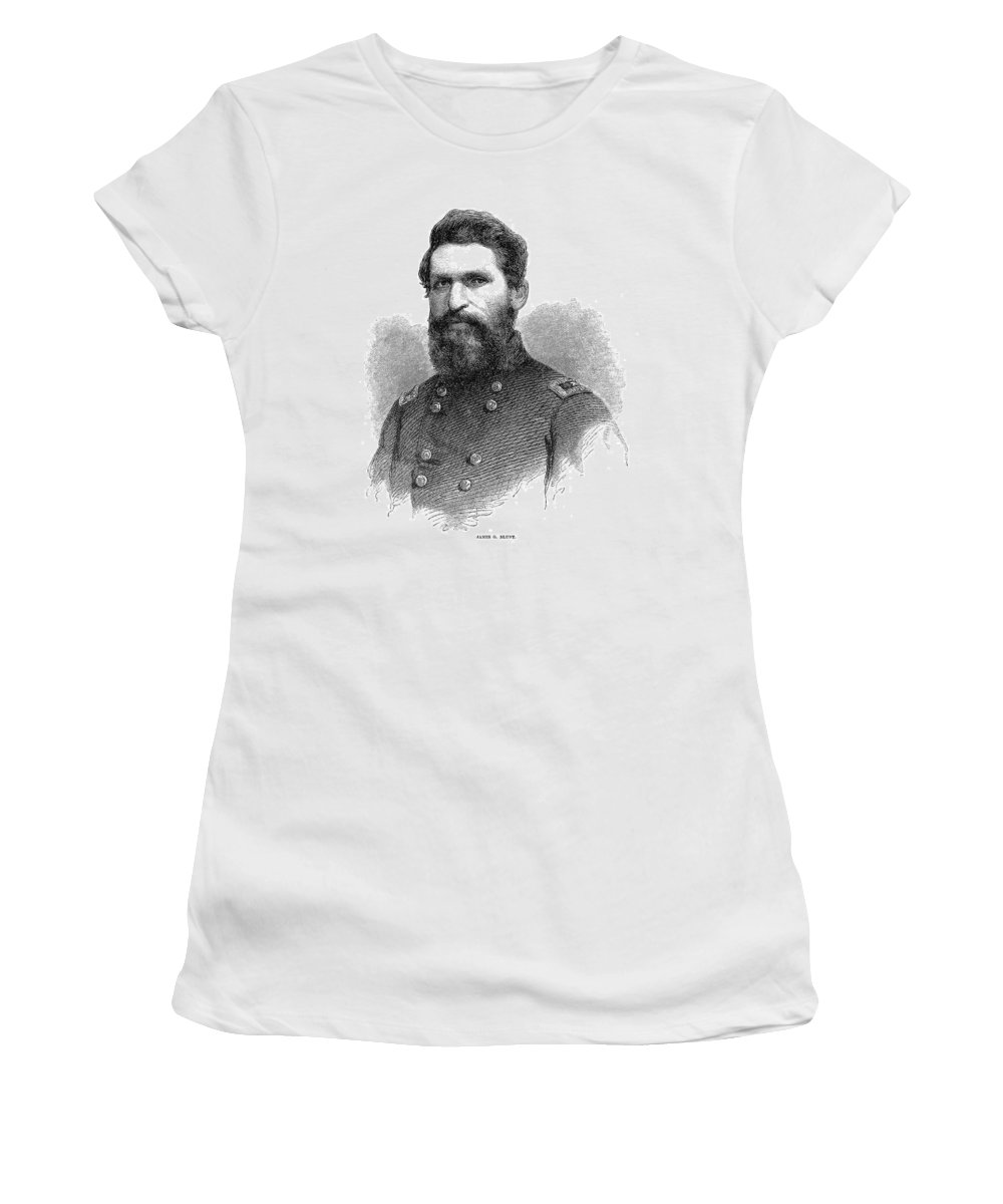 1866 Women's T-Shirt (Athletic Fit) featuring the painting James Gillpatrick Blunt (1826-1881) by Granger