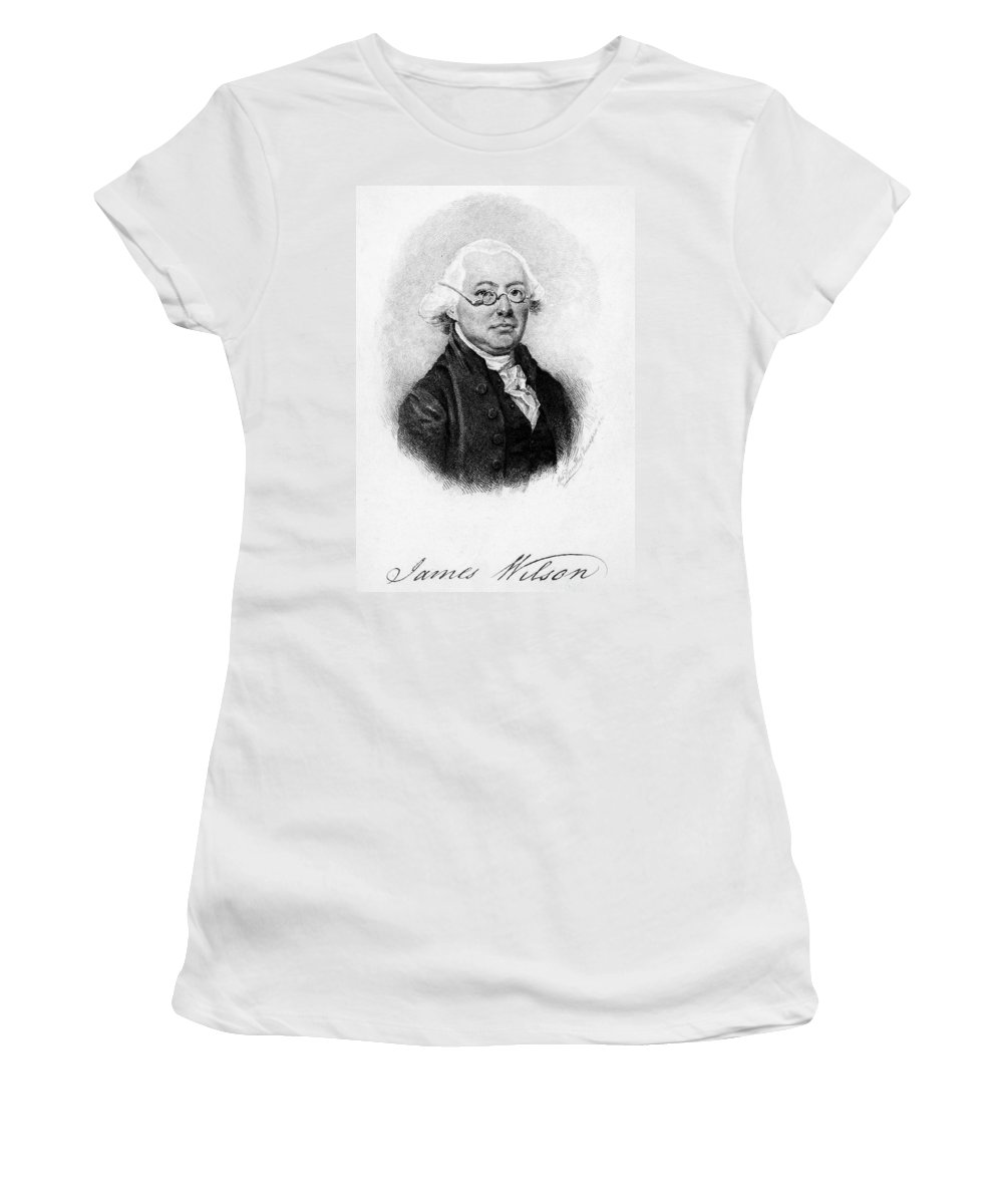 18th Century Women's T-Shirt (Athletic Fit) featuring the painting James Wilson (1742-1798) by Granger