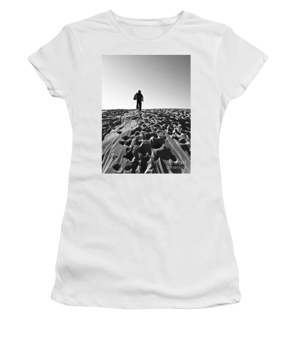 Beach Women's T-Shirt featuring the photograph Journey Begins Here by Fei A