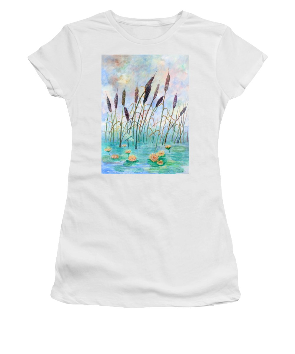 Pond Women's T-Shirt featuring the painting Joy Of Summer by Ben Kiger